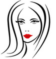 woman beauty portrait salon icon vector image