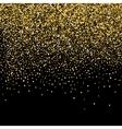 Gold glitter background vector image