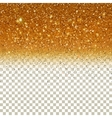 Shiny Particles on Golden background vector image