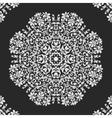 lace doily mandala round ornament vector image