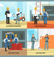 building concept icons set vector image