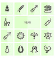 14 year icons vector image vector image