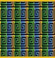 3d greek seamless pattern vector image vector image