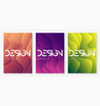 abstract gradient geometric wavy cover designs vector image vector image