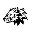 angry wolf logo design template vector image vector image