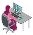 arab woman muslim woman asian woman working