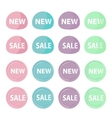 Badge pastel vector image vector image
