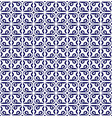 baroque blue pattern vector image vector image