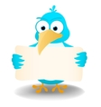 Bird with a blank banner vector image vector image