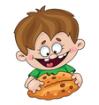 boy with a pie vector image vector image