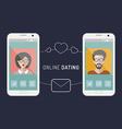 Cellphone communication vector image
