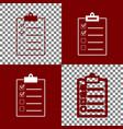 checklist sign bordo and vector image vector image