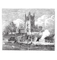 church of all saints wilden worcestershire vector image vector image