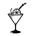 cocktail icon simple black style vector image