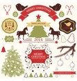 collection of christmas design elements vector image vector image