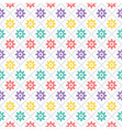 colorful circles pattern vector image vector image