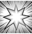 comic book page monochrome design concept vector image vector image