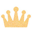 crown composition of small circles vector image