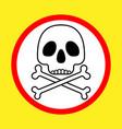 danger-poison sign vector image