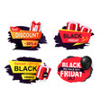 discount and offer on black friday autumn holiday vector image