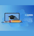 e learning concept design template vector image vector image