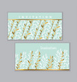 elegant gold and green leaf geometric pattern vector image vector image