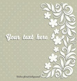 elegant vintage invitation card with abstract vector image
