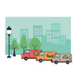 fast food delivery vector image