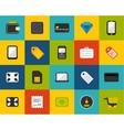 Flat icons set 9 vector image