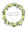 floral card with forest leaf fern branches vector image vector image