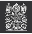 Floral folk ornament vector image vector image