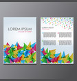 flyer brochure abstract design 2 sides image vector image