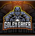 golem gamer esport mascot logo design vector image vector image