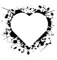 ink heart vector image