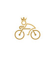 king bike logo icon design vector image vector image