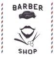 Label for barber shop design vector image