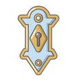 lock door icon cartoon style vector image