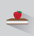 logo book and apple vector image vector image