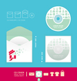 Modern soft color cd vector image vector image