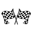 motor sports flags curling in breeze vector image vector image