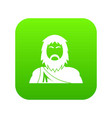 neanderthal icon green vector image