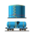 Oil extraction truck and container vector image