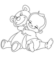 outlined bahug bear vector image vector image