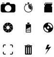 photo icon set vector image vector image