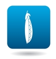 Pod of green peas icon flat style vector image vector image