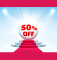 podium 50 off vector image vector image