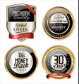 premium quality golden labels 4 vector image vector image