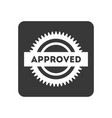 quality control icon with approved sign vector image