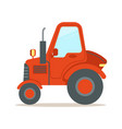 red tractor heavy agricultural machinery colorful vector image vector image