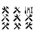 Repair tool icons set vector image